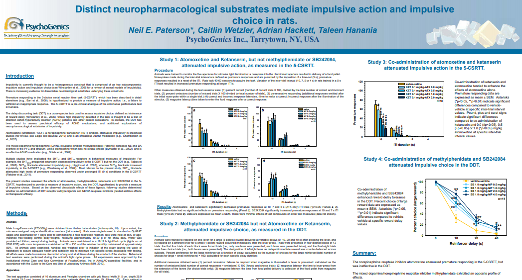 Distinct neuropharmacological substrates mediate impulsive action and impulsive choice in rats.